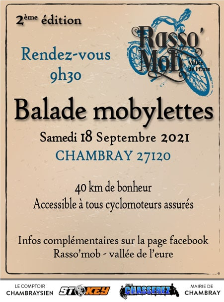 Affiche Rasso Mob balade mobylettes