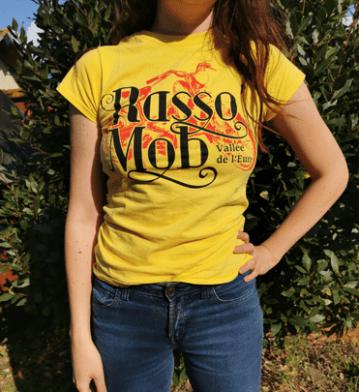 T shirt Rasso Mob jaune 2020 femme e1622209780666